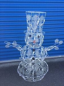 Two Wire Snowman with lights