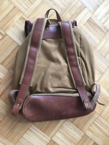 DRAKE GENERAL STORE - Light brown canvas backpack