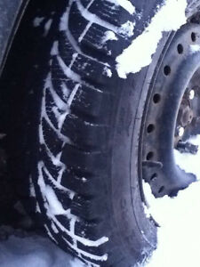 Winter tires on steel rims 195 65 R15