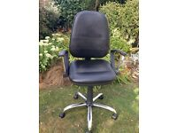 Black faux leather office/computer chair