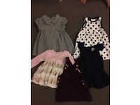 Baby girl 3-6 months dresses 3 x next 2 x Sainsbury's