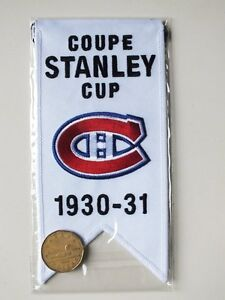 CENTENNIAL STANLEY CUP 1930-31 BANNER MONTREAL CANADIENS HABS Gatineau Ottawa / Gatineau Area image 2