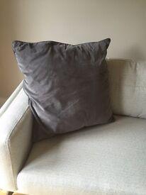 Brand new grey suede IKEA cushions