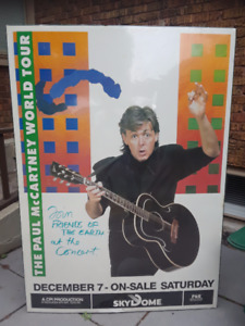 Paul McCartney Beatles Concert Poster Toronto Skydome 1989