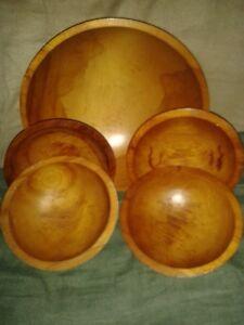 Barwocraft wood salad bowl set of 5