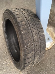 Winter tires - four used low profile tires from Fiat 500