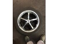 4 dots 17 inch alloys with tyres swaps