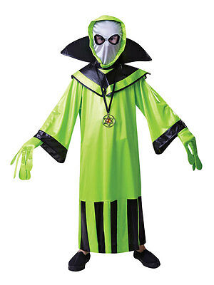 Kids Boys Book Day Green Alien Martian Monster Spaceman Fancy Dress Costume ET ()