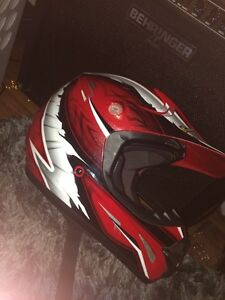 Size small kids dirt bike helmet