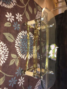 Beautiful glass coffee table come with two side table