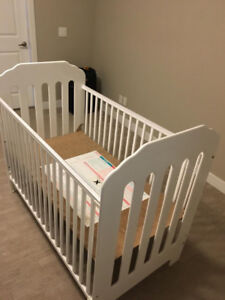 Storkcraft Upholstered 3-in-1 Convertible Crib with Mattress