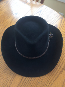 Aussie Pure Felt Black Stockman Hat