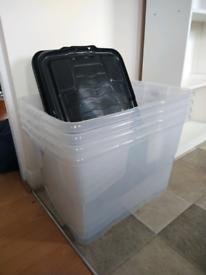 Plastic storage boxes