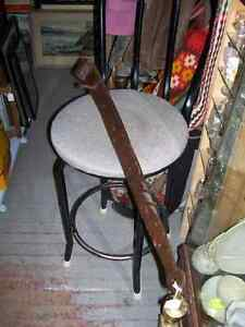 Antique one piece large barn door hinge - hand forged