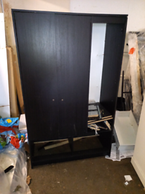 Large black wardrobe only £50. CLOSING DOWN SALE. Furniture Superstore