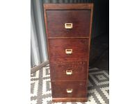 Vintage filing cabinet /oak drawers