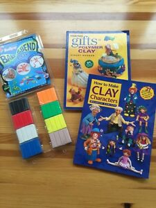 """Sculpey clay and """"How to"""" books"""
