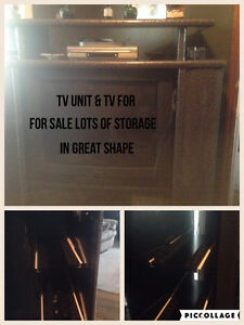 Large tv unit & tv