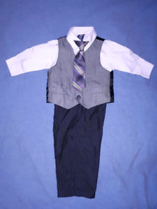 Dockers Baby Boy 4pc Holiday Christmas Dress Suit Size 12mts EUC