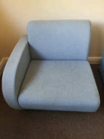 Separable two-seat sofa