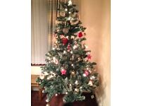 Great condition 6ft5 Christmas tree with silver/white tips