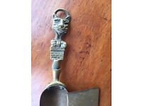 Vintage brass cat handled shovel