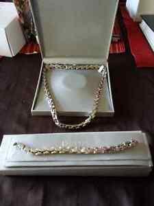"Mens 18"" huge necklace with matching bracelet"