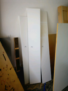 White shelving boards