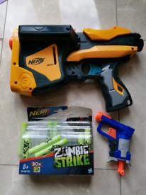 Nerf Toy guns- Max Large multiple dart + Jolt Pistol + zombie darts