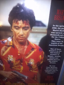 Al Pacino Scarface Movie Poster Plaked