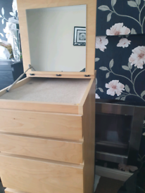 2 set off ikea mlam beach tall chest of drawers with mirror on top