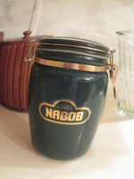 Lovely old collectable! Nabob Glass Vacuum Sealed Jar!