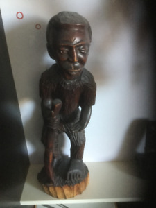 Black wood carving