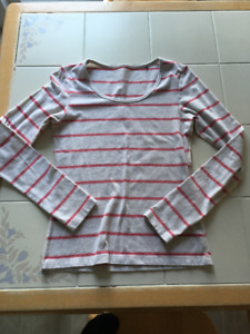 Girls red striped long sleeve shirt in size Small (14/16)