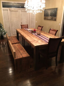 Rustic Farmhouse Dining Table Reclaimed Wood