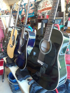ON SALE - NEW Guitars - 5 Acoustic - Full size adult.
