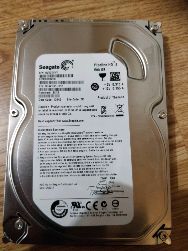seagate pipeline 500gb pc hdd | in Walthamstow, London | Gumtree