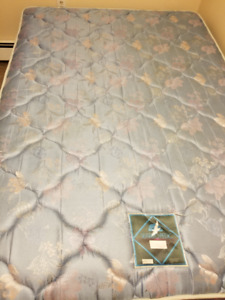 Double Box spring & Mattress with metal frame.