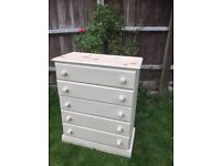Up Cycled Pine Chest of Drawers