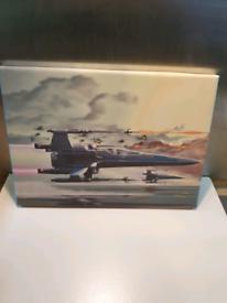 Xwing starwar's cartoon art Canvas Wall Art Print picture