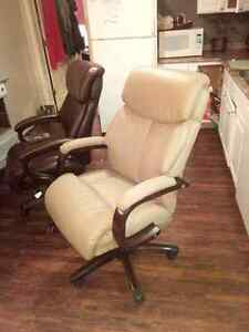 Leather LazyBoy Office Chair