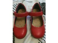 Girls red shoes (Next) size 8.5