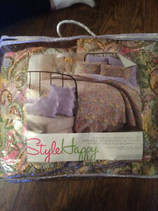 Quilted double comforter