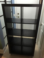 IKEA KALLAX Shelving unit, black-brown Like NEW