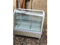 Counter top display fridge for sandwiches cakes market stall cafe etc white fully working