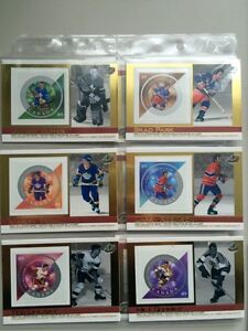 2004 SETS OF 6 PACIFIC CANADA POST NHL ALL STAR STAMP CARDS