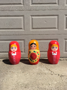 "Very large Russian dolls! home accent pieces, 18""tall solid oak"