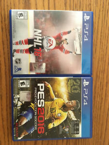 PS4 Pro Evolution Soccer 2016 and NHL 16
