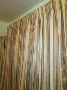 Custom made,new pinch pleated, drapery-curtains for two windows Kingston Kingston Area image 1