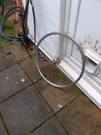 Wheel large flange hub fixie retro